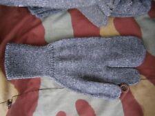 Guanti lana soldato, manopole, Regio Esercito, original grey wool mittens gloves