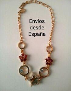 Nueva Pulsera Gold Filled Oro 18 quilates con Rubíes y Circonitas