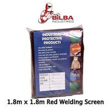 Red Welding Curtain/ Screen 1.8m x 1.8m