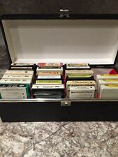 Vintage 8-Track Tape Storage Case Holds 24 Tapes Including 21 Tapes Untested