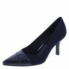 """Fioni NAVY SUEDE & PATENT Jody Pump * 3"""" Wrapped Heel *  SZ 12   New In Box"""