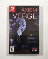 Axiom Verge (Nintendo Switch, 2017) Fast Free Shipping