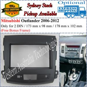 Fascia facia Fits Mitsubishi Outlander 2006-2012 Double Two 2 DIN Dash Kit