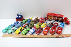 Lot of 24 - Disney Pixar Cars Diecast & Plastic- McQueen~Mater~Sarge