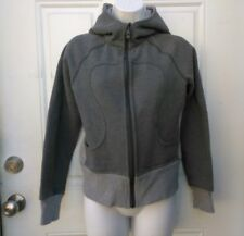 LULULEMON Scuba Hoodie Jacket Gray Grey  Stretch Solid Size 4 Yoga Gym
