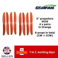 "Gemfan Propellers Quad Props 5"" 5030 x8 4 Pairs Orange QAV 250 FPV Emax ZMR UK"