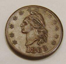 1863 - I.O.U 1 Cent - Civil War Token - F-1/391 - Nice Sharp Details