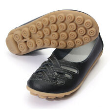 Women's comfortable soft leather flats nodule sole auyi lattice design