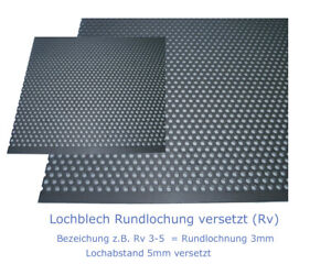 Stainless Steel Perforated Sheet 1 MM Or 1,5 Strong Rundlochung Ø 3 A2 O.A4