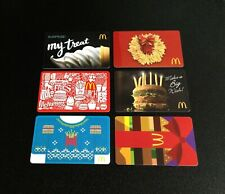 USA MCDONALDS GIFT CARD / ARCH CARD  ----- LOT OF 6 PCS. ----- NEW