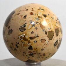 "2.25"" Leopard Skin Jasper Sphere Polished Leopardite Crystal Mineral Ball - Peru"