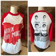 Walk The Moon - Ohio Indie band Talking is Hard CA Tour 3/4 Sleeve Adult S Rare