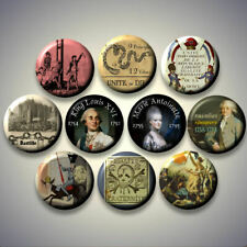 French Revolution France History Pinback buttons pins Set of 10