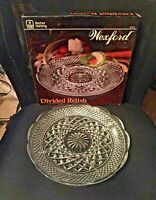 """NOS Vtg ANCHOR HOCKING """"WEXFORD"""" Divided 11"""" Round 5 Section Serving Dish - NIB!"""