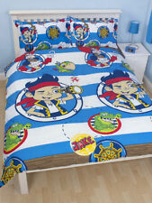 JAKE & THE NEVERLANDS  PIRATES  DOUBLE DOONA DUVET QUILT COVER, REVERSABLE  NEW