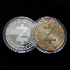 2 x Zcash Coin ZEC Collectible Coins Commemorative Virtual Coin Art Collection