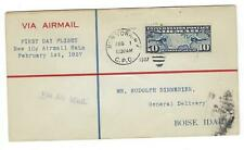 1927 First Flight Airmail New 10c Rate NYC To Boise, ID - (CZ53)
