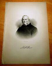 Antique Print 1886 JOHN E. WILLIAMS Greenburgh, New York PORTRAIT Steel Engrav.
