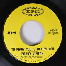 Pop 45 Bobby Vinton - To Know You Is To Love You / The Beat Of My Heart On Epic