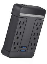 Rocketfish 6-Outlet/2-USB Swivel Wall Tap Surge Protector Black