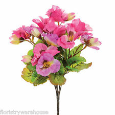 Artificial Silk Flowers Pansy Bunch Pansies Pink