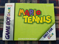 Mario Tennis - Authentic - Nintendo Game Boy Color - GBC - Manual Only!