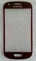 vitre devant en verre affichage Ecran rouge samsung galaxy s3 mini I8190 I8195
