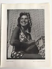 SMILING MAIDEN, Beautiful Young Woman, 1945 Vintage RP Print, Dr S J Jouhar