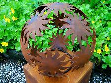 Metall Kugel Sonne D.20 angerostet Skulpturen Rost Gartenfiguren Edelrost