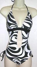 Rampage 1 PC Halter Swimsuit Black Size Medium NWT