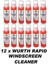 12 X Wurth Rapide Pare-Brise Nettoyant 32ml Concentré Lave Glace Fait 30-36lt