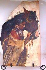His Pony-Her Medicine 20½ X 12 on stone #343 of 350 by Ken Schmidt print $95