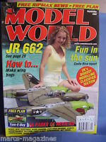 RCMW RC MODEL WORLD SEPTEMBER 2002 TOM E BOY PLAN PEGGY FERNANDEZ P38 AURIGNY