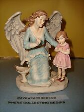 """Angel and Young Girl Praying Turtle King Company 6"""" Tall Figure Near Mint"""