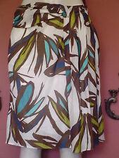 Women's Misses Nine West Size 4 Multi color Floral Lined ALine Skirt EUC