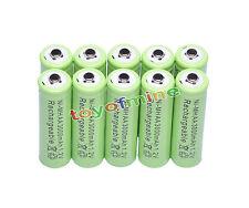10x AA NiMH 3000mAH pile 2A Batterie rechargeable Lumière solaire