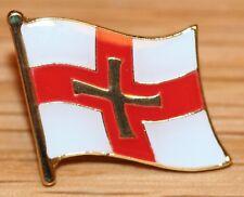 GUERNSEY Channel Islands Flag Enamel Pin Badge