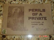 1918 WWI COMIC BOOK PERILS PRIVATE STANLEY SKETCHES