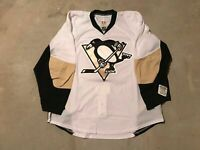 Pittsburgh Penguins Pro Stock Team Issued Reebok Road White Jersey 58