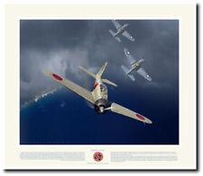 Saburo Sakai by Jack Fellows – Tainan Air Group Samurai - Aviation Art Print