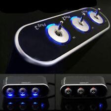 3 Way Car Cigarette Lighter Socket Splitter LED USB Charger Power Adapter 12/24V