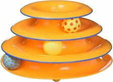 New listing Petstages Tower of Tracks Cat Toy – 3 Levels of Interactive Play – Circle Tra.