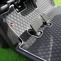 Xtreme Mats Full Coverage Golf Cart Floor Liner Mat - GREY - Fits EZGO RXV