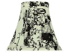 """NEW~Aspen Creative~30067~6"""" BLACK & WHITE~Bell~Chandelier Clip-On~Lamp Shade"""