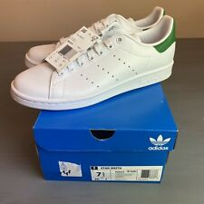 ADIDAS STAN SMITH MENS US 7.5 WHITE/GREEN Authentic New In Box M20324 SUPERSTAR