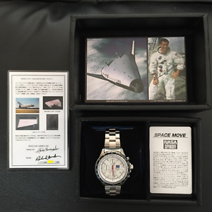 NOS Seiko NASA SPINOFF Space Move Limited to 500 Space shuttle tile dial White