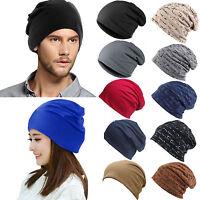 Unisex Mens Womens Beanie Hat Cotton Slouchy Baggy Winter Casual Ski Hip Hop Cap