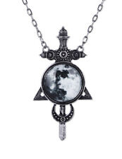Restyle Moon Sword Hanger Halsketting Pendant Necklace Gothic Occult Halloween