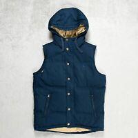 Mens JACK WILLS Gilet Size SMALL Down padded Waistcoat Vest Bodywarmer Navy blue
