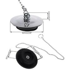 Bathtub Drain Plug With Chain Sink Basin Water Stopper For Bathroom Kitchen r